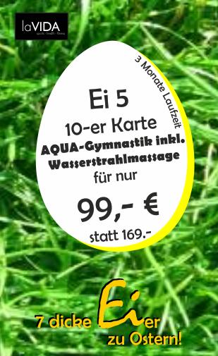Aqua-Fitness 10-er Karte nur Samstag, 20.04.2019 erhältlich